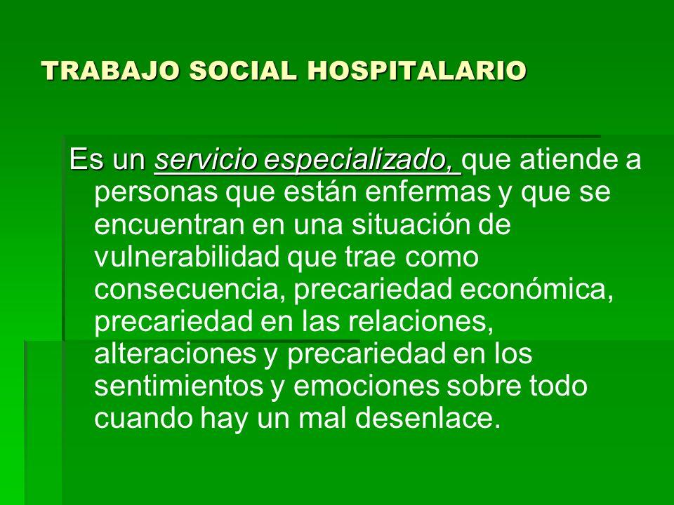 TRABAJO SOCIAL HOSPITALARIO