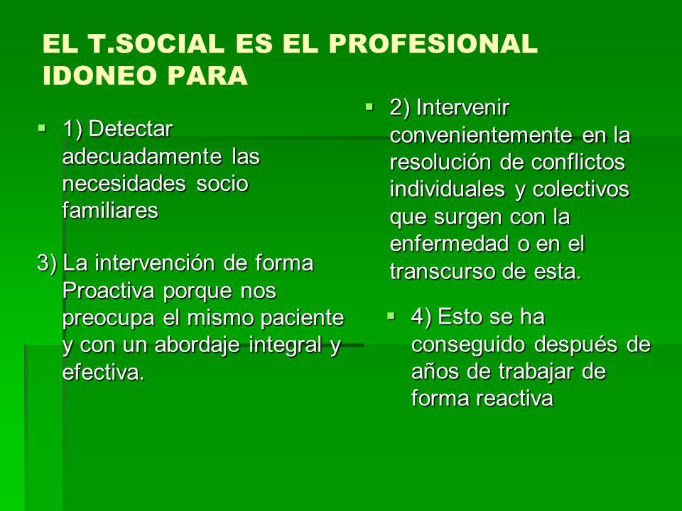 EL T.SOCIAL ES EL PROFESIONAL IDONEO PARA