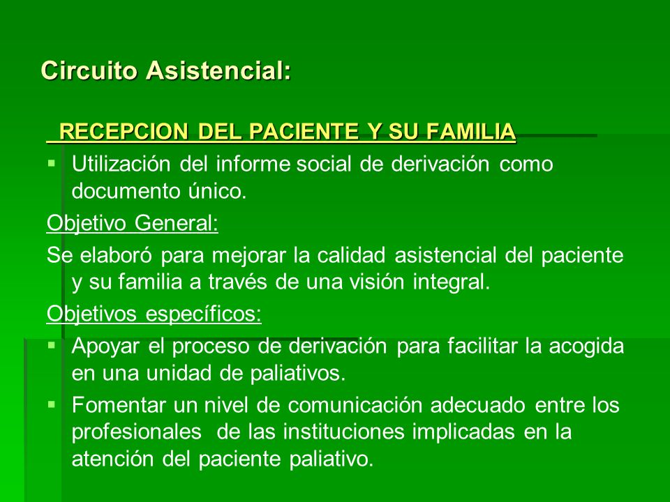 Circuito Asistencial:
