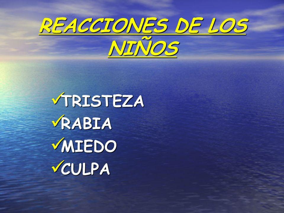 REACCIONES DE LOS NIÑOS