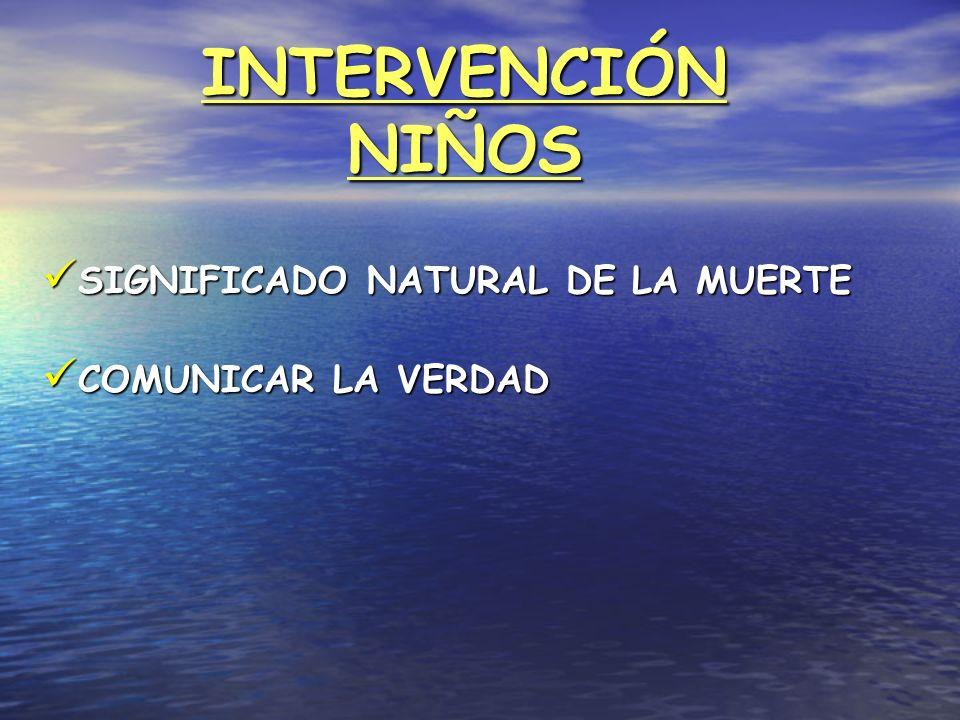 INTERVENCIÓN NIÑOS SIGNIFICADO NATURAL DE LA MUERTE