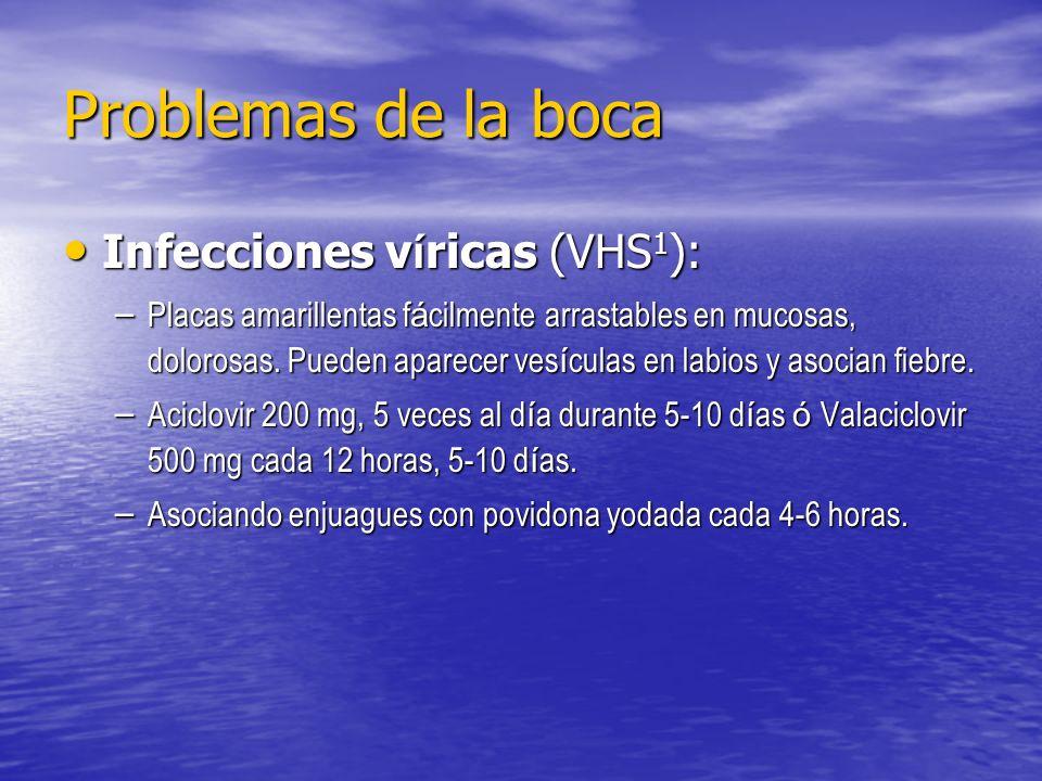 Problemas de la boca Infecciones víricas (VHS1):