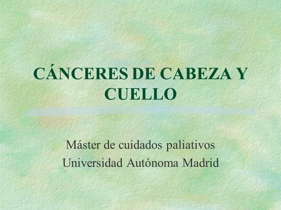 CÁNCERES DE CABEZA Y CUELLO