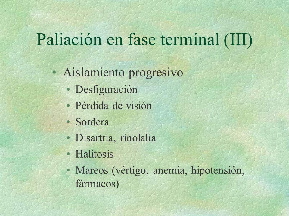 Paliación en fase terminal (III)