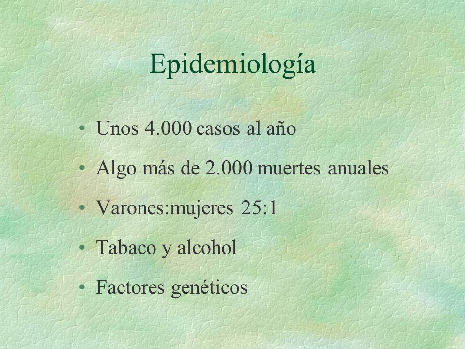 Epidemiología Unos 4.000 casos al año