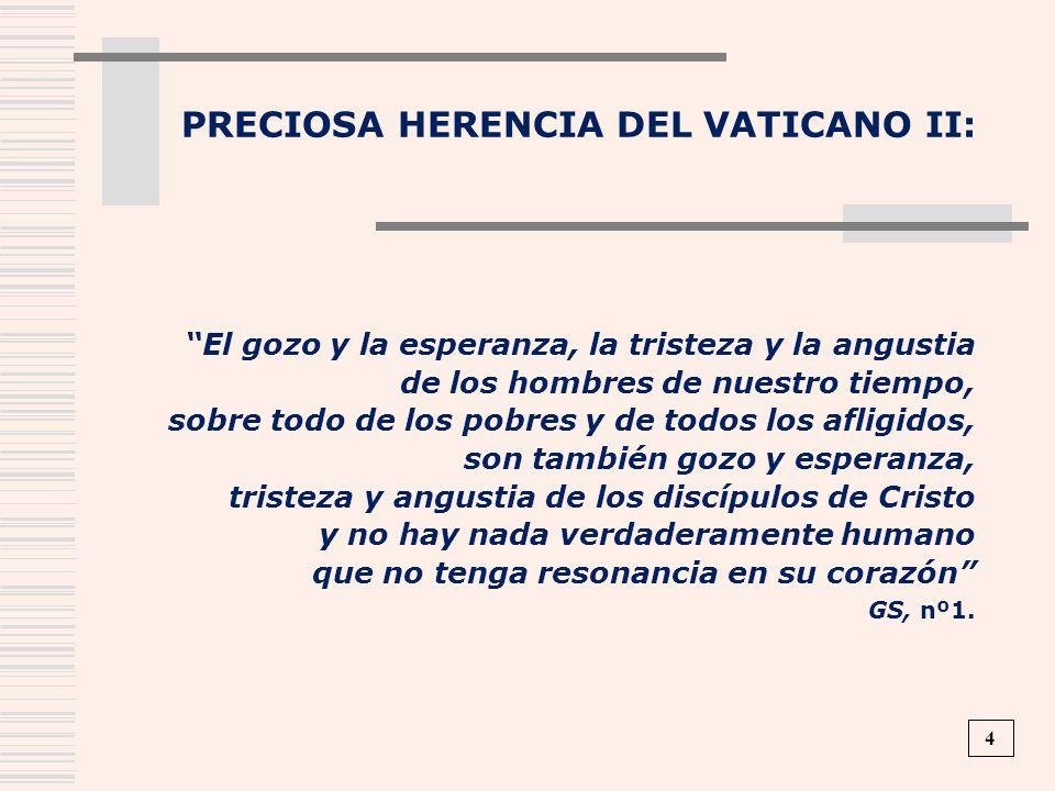 PRECIOSA HERENCIA DEL VATICANO II: