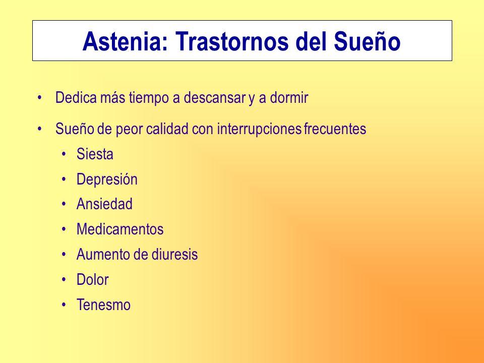 Astenia: Trastornos del Sueño