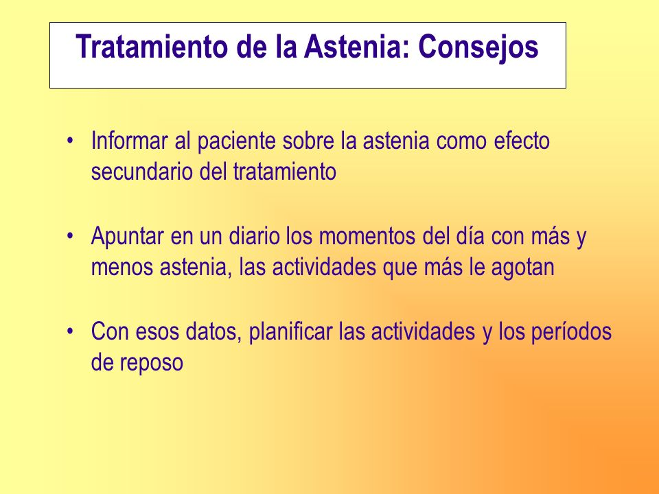 Tratamiento de la Astenia: Consejos