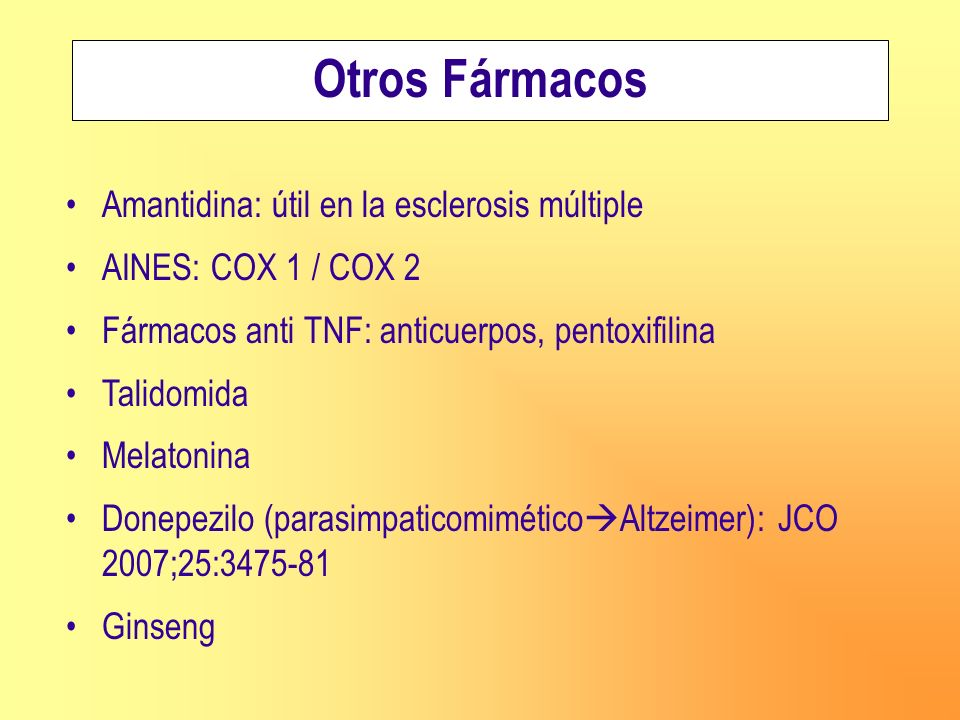 Otros Fármacos Amantidina: útil en la esclerosis múltiple