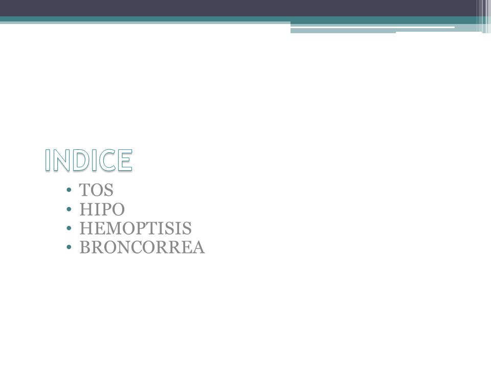 INDICE TOS HIPO HEMOPTISIS BRONCORREA