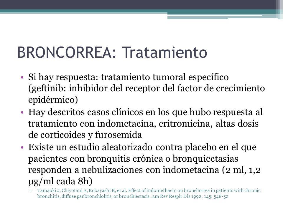 BRONCORREA: Tratamiento