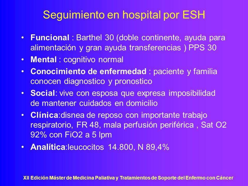 Seguimiento en hospital por ESH