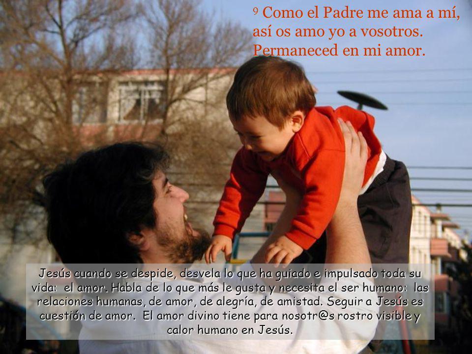 9 Como el Padre me ama a mí, así os amo yo a vosotros