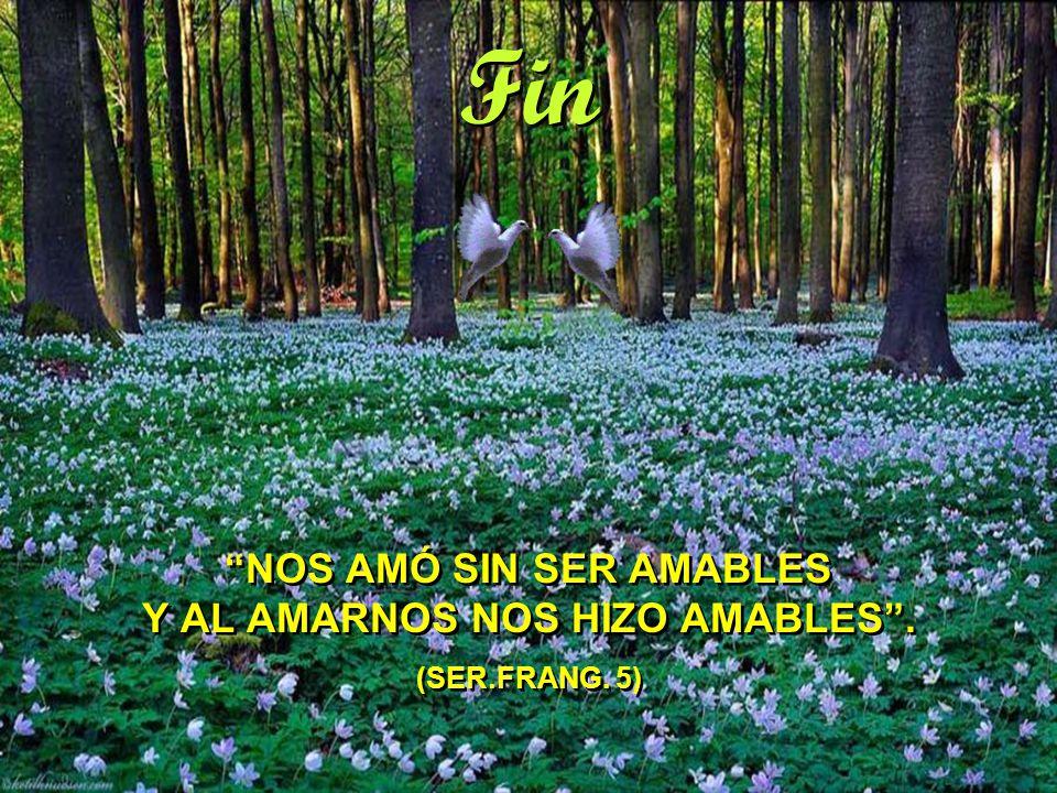 Fin NOS AMÓ SIN SER AMABLES Y AL AMARNOS NOS HIZO AMABLES . (SER.FRANG. 5)