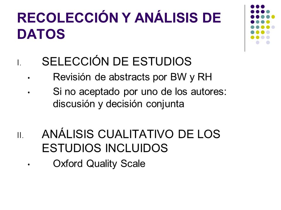 RECOLECCIÓN Y ANÁLISIS DE DATOS