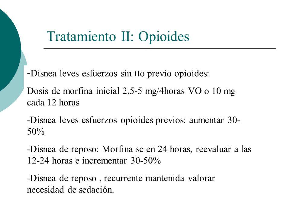 Tratamiento II: Opioides