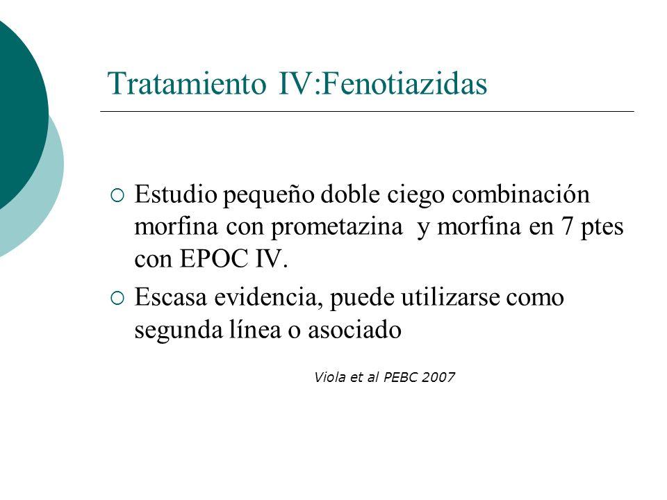 Tratamiento IV:Fenotiazidas