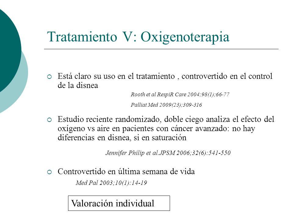 Tratamiento V: Oxigenoterapia