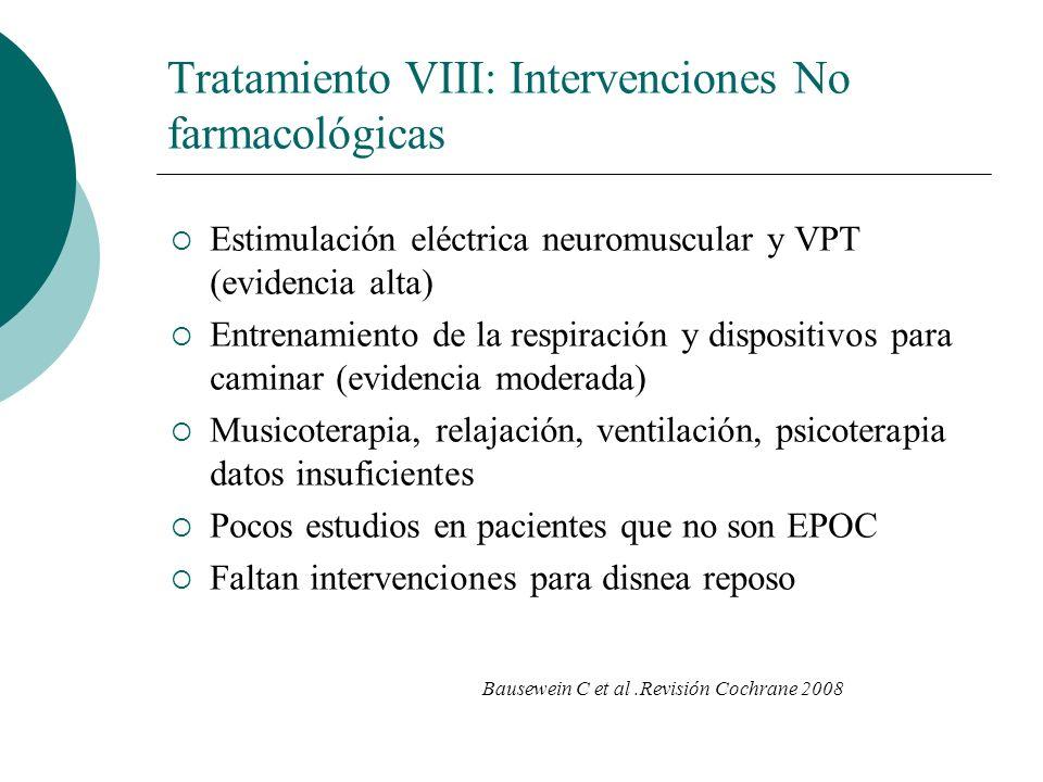 Tratamiento VIII: Intervenciones No farmacológicas