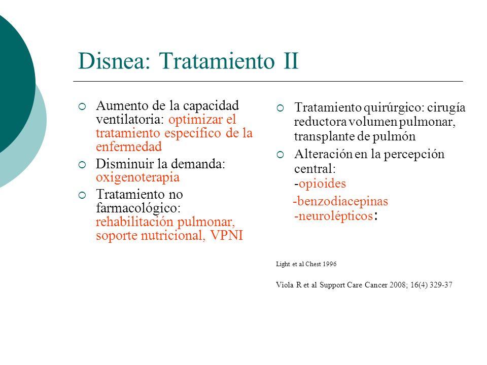 Disnea: Tratamiento II