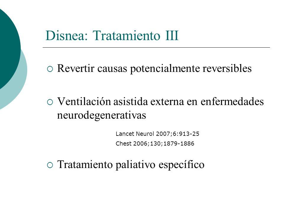 Disnea: Tratamiento III