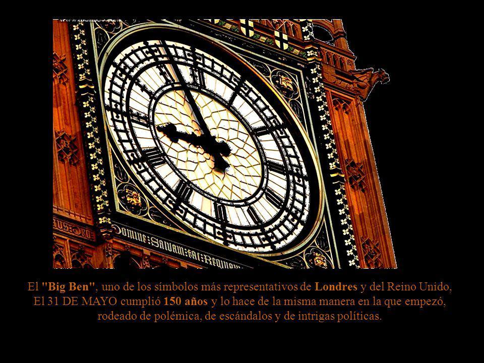 El Big Ben , uno de los símbolos más representativos de Londres y del Reino Unido,