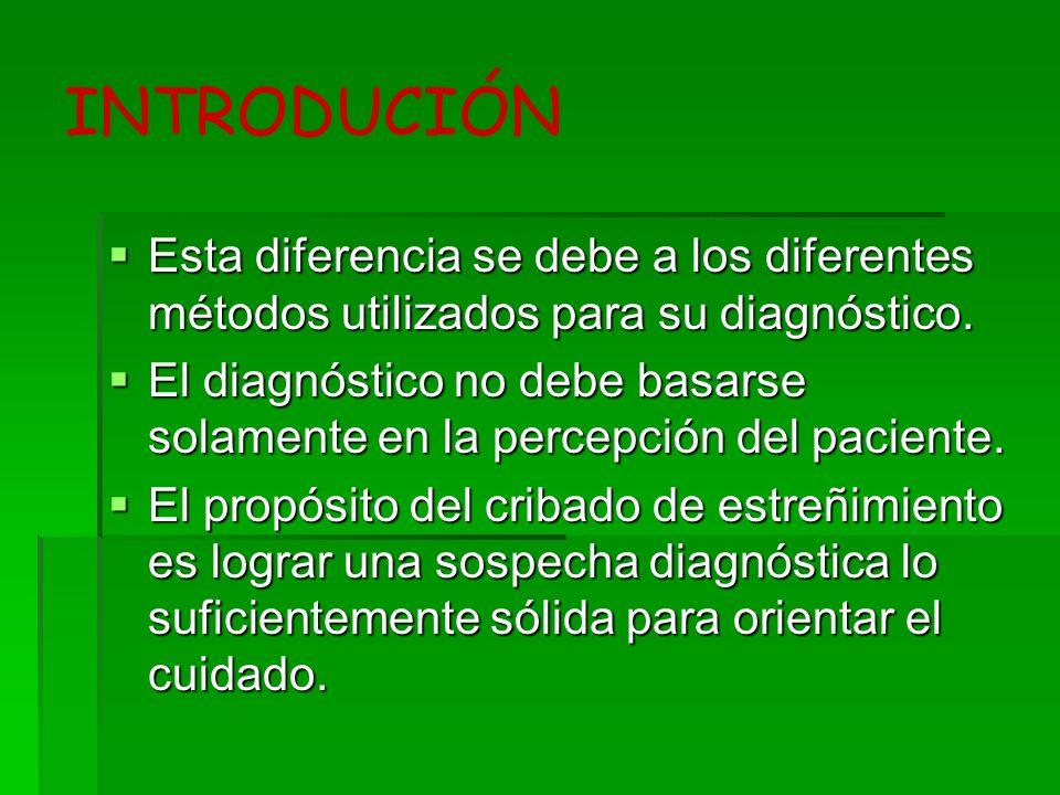INTRODUCIÓN Esta diferencia se debe a los diferentes métodos utilizados para su diagnóstico.