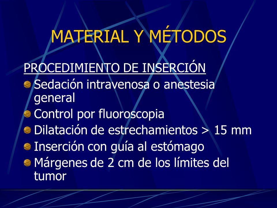 MATERIAL Y MÉTODOS PROCEDIMIENTO DE INSERCIÓN