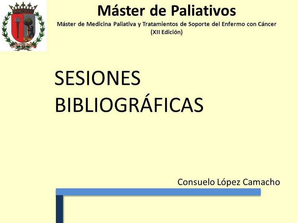 SESIONES BIBLIOGRÁFICAS