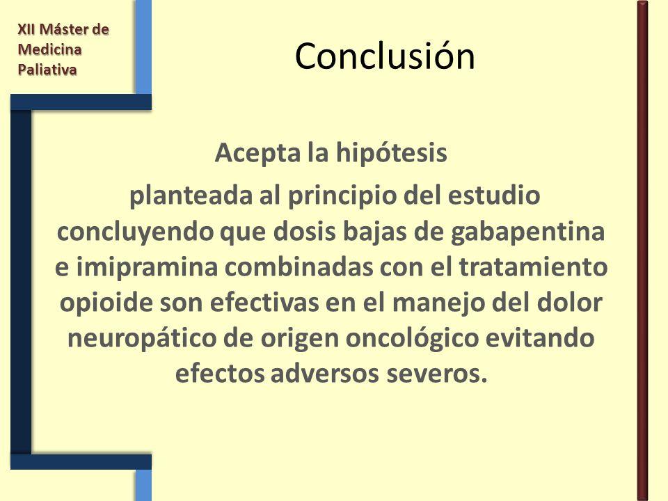 Conclusión Acepta la hipótesis