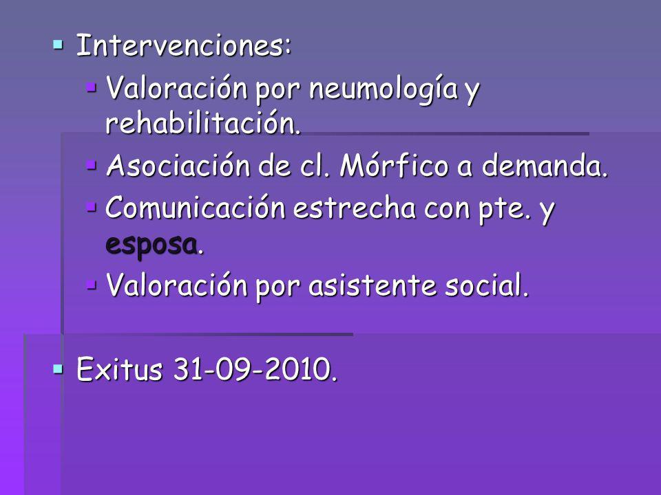 Valoración por neumología y rehabilitación.