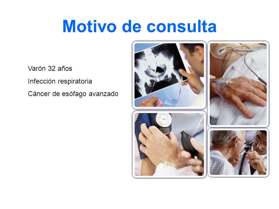 Motivo de consulta Varón 32 años Infección respiratoria