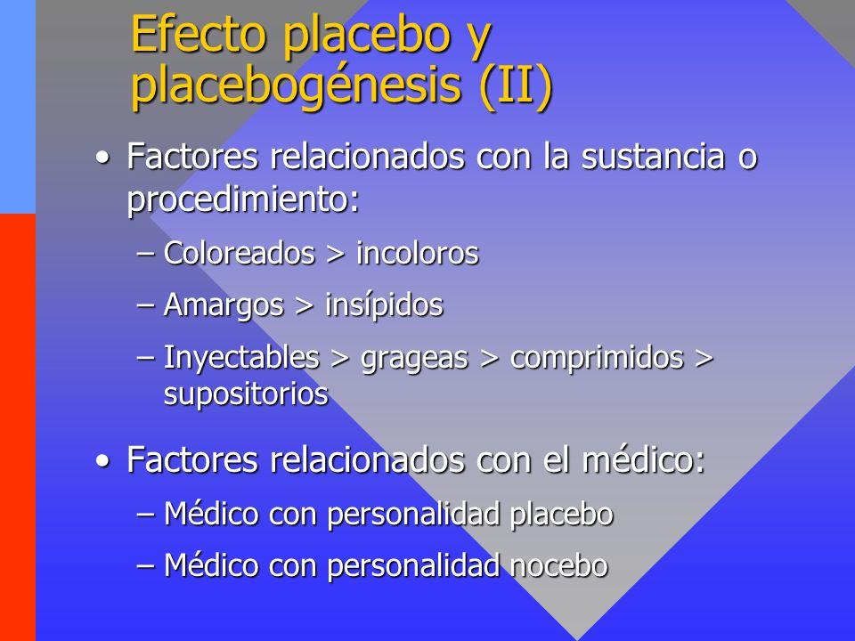 Efecto placebo y placebogénesis (II)