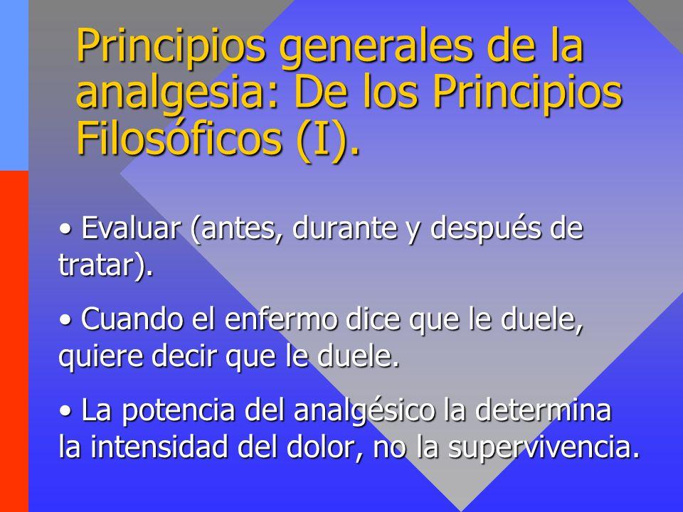 Principios generales de la analgesia: De los Principios Filosóficos (I).