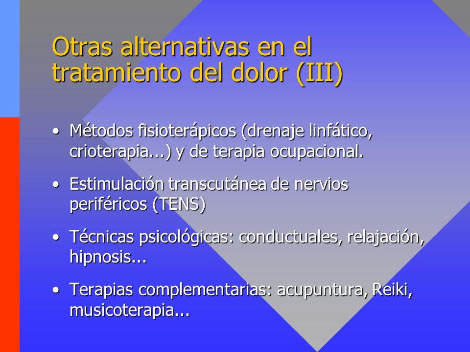 Otras alternativas en el tratamiento del dolor (III)