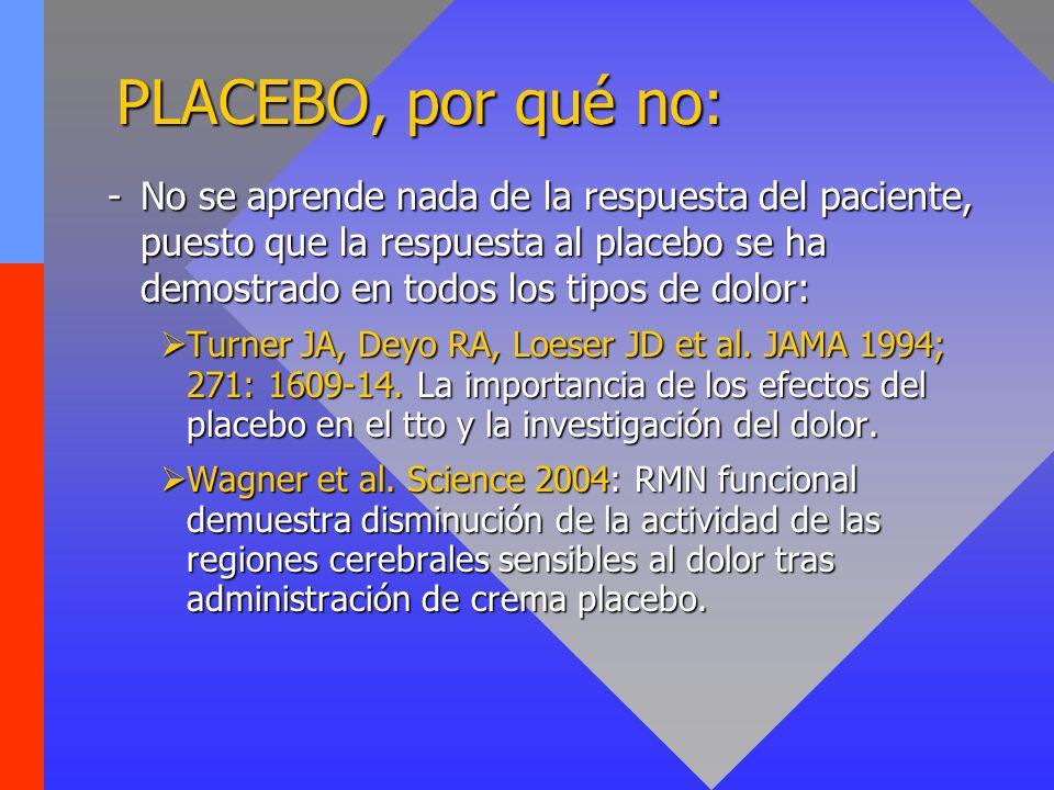PLACEBO, por qué no: