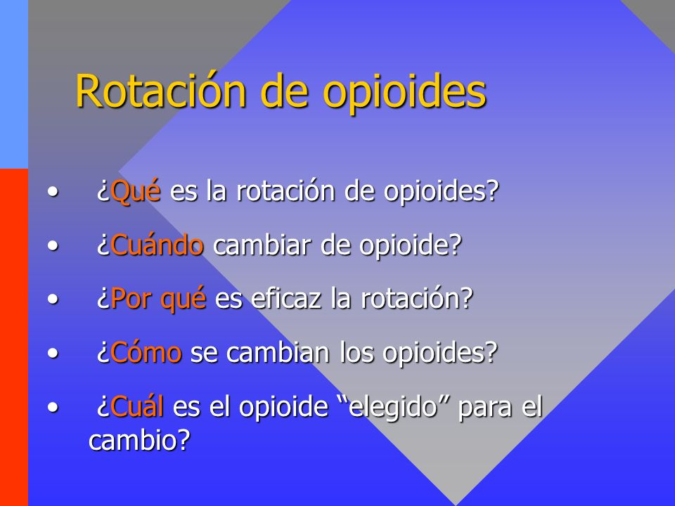 Rotación de opioides ¿Qué es la rotación de opioides