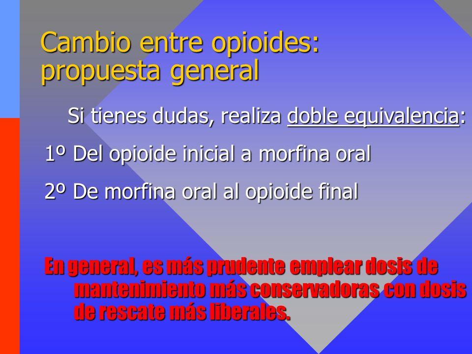 Cambio entre opioides: propuesta general