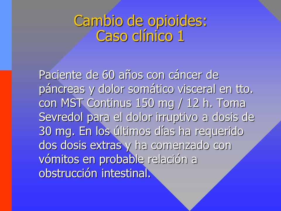 Cambio de opioides: Caso clínico 1