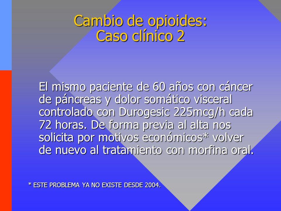 Cambio de opioides: Caso clínico 2
