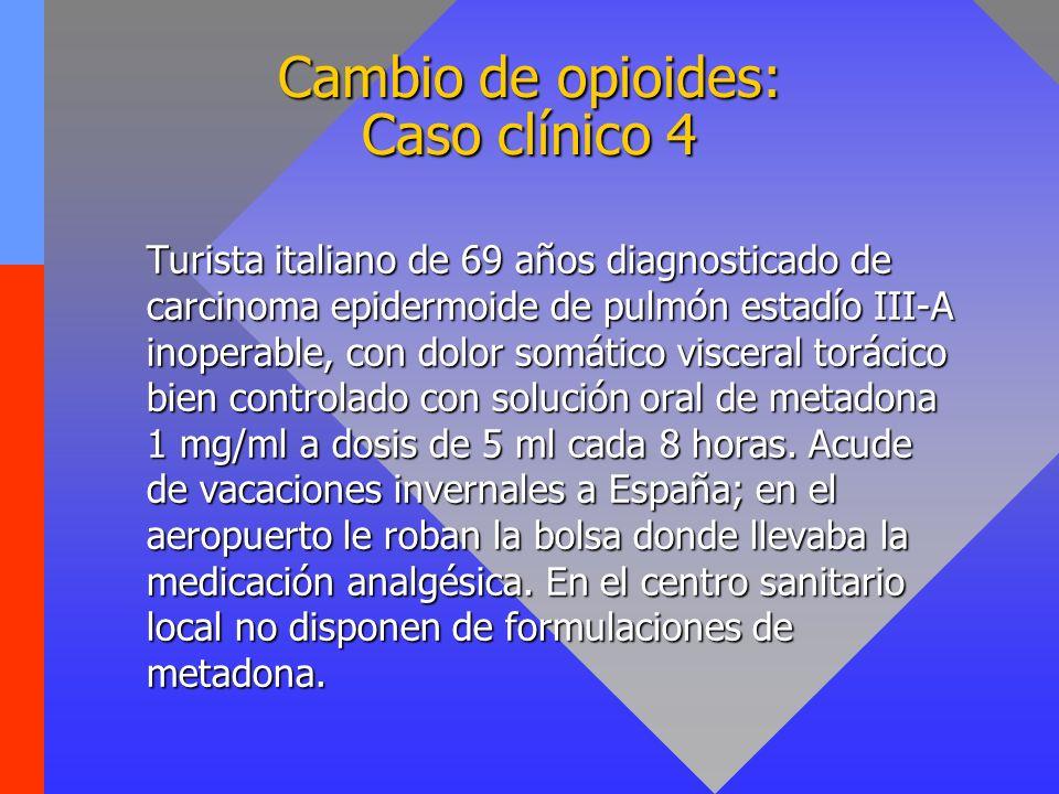 Cambio de opioides: Caso clínico 4
