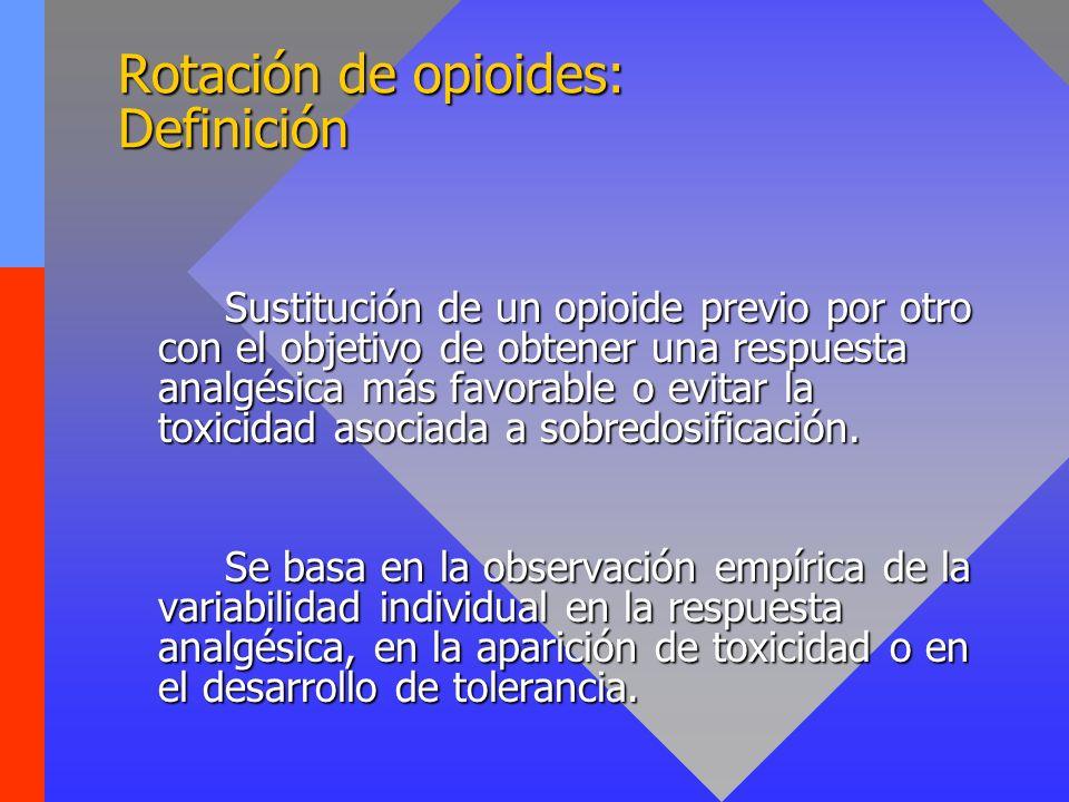 Rotación de opioides: Definición