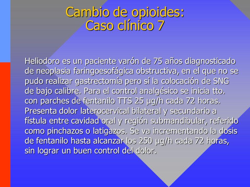 Cambio de opioides: Caso clínico 7