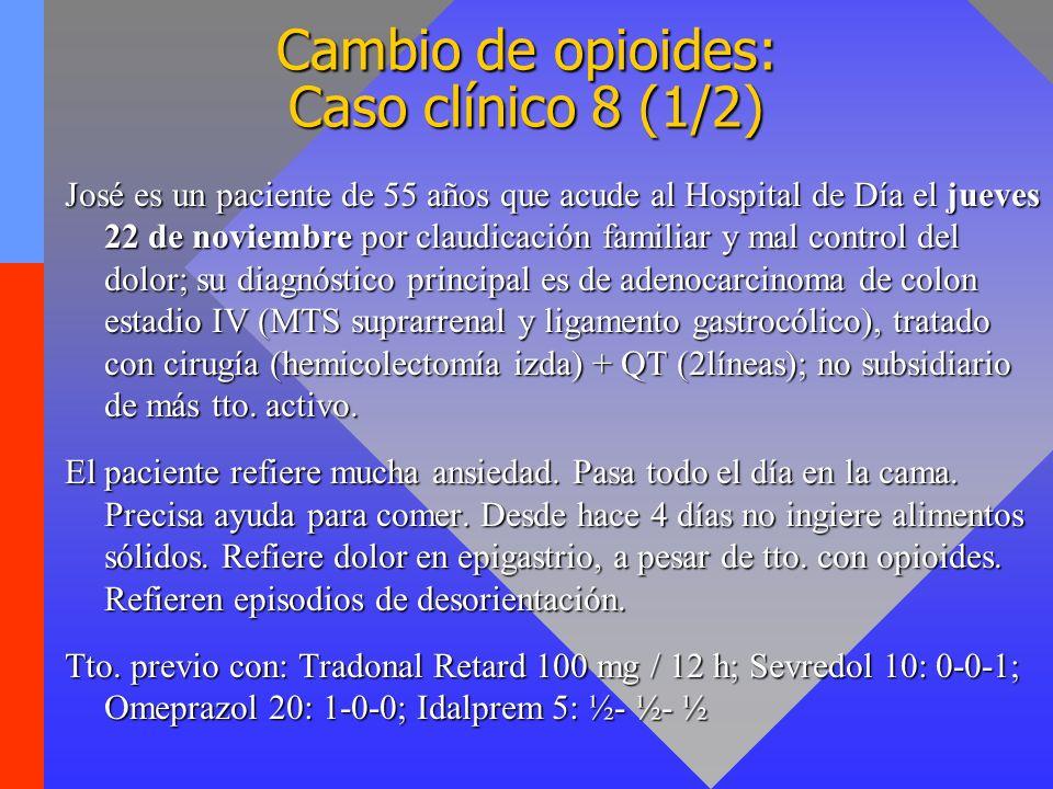 Cambio de opioides: Caso clínico 8 (1/2)
