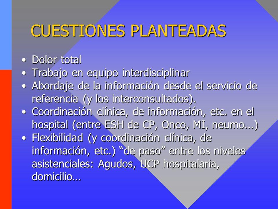 CUESTIONES PLANTEADAS
