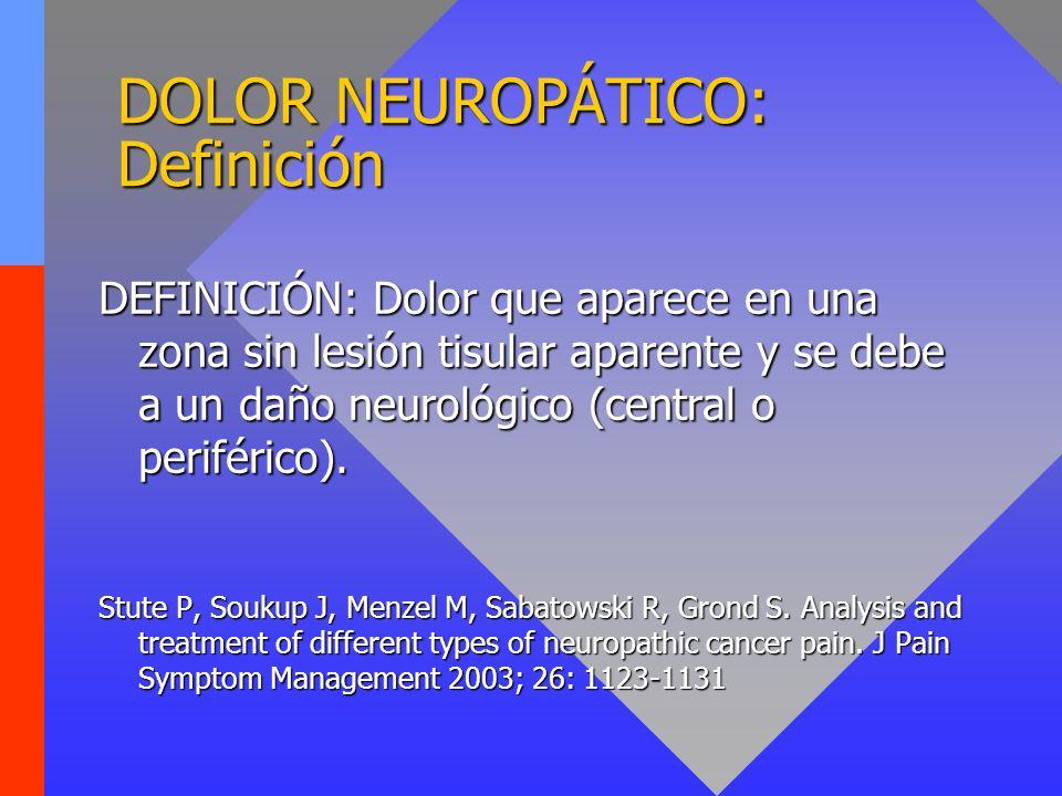 DOLOR NEUROPÁTICO: Definición