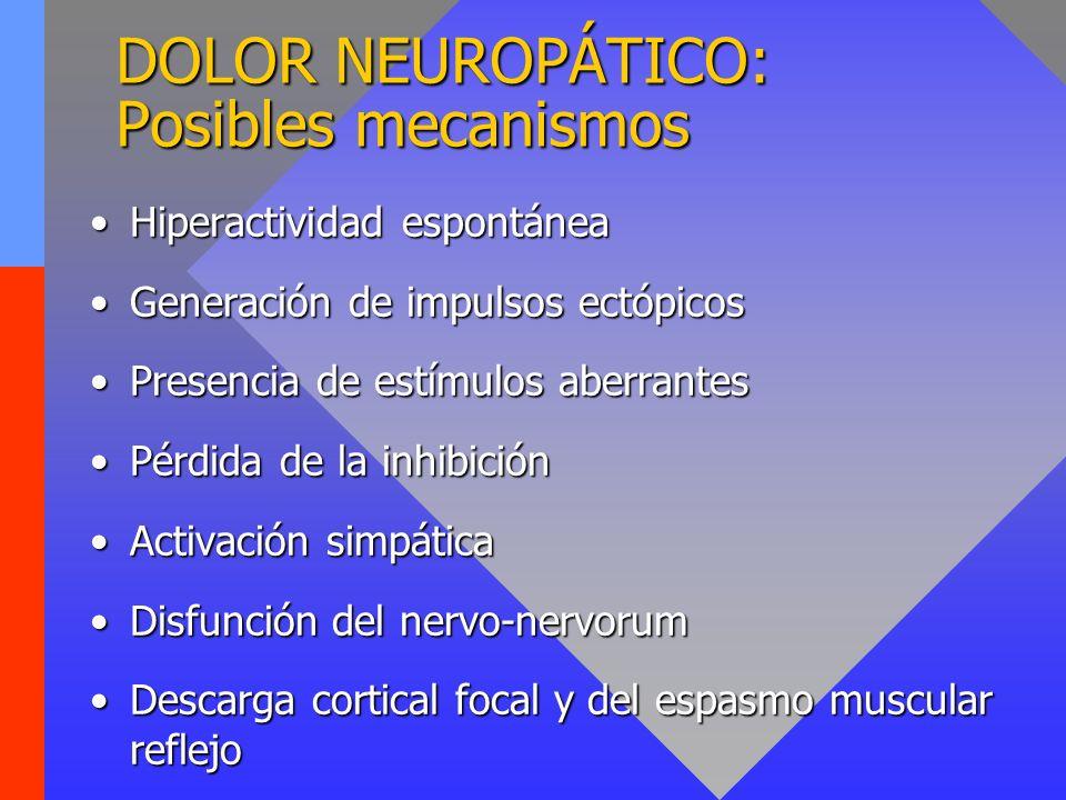 DOLOR NEUROPÁTICO: Posibles mecanismos
