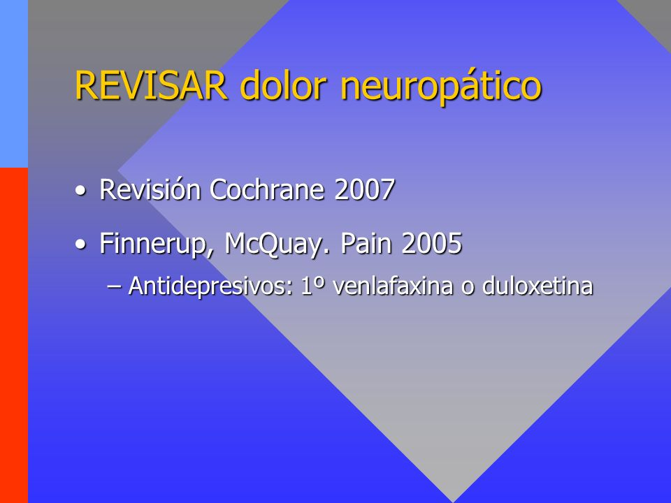 REVISAR dolor neuropático