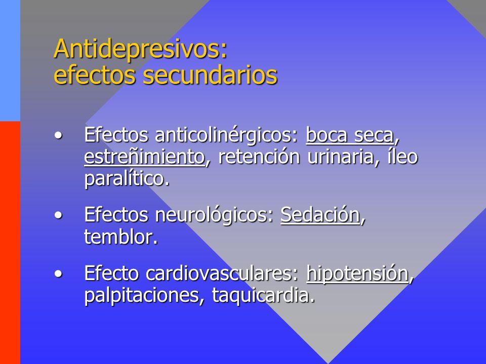 Antidepresivos: efectos secundarios