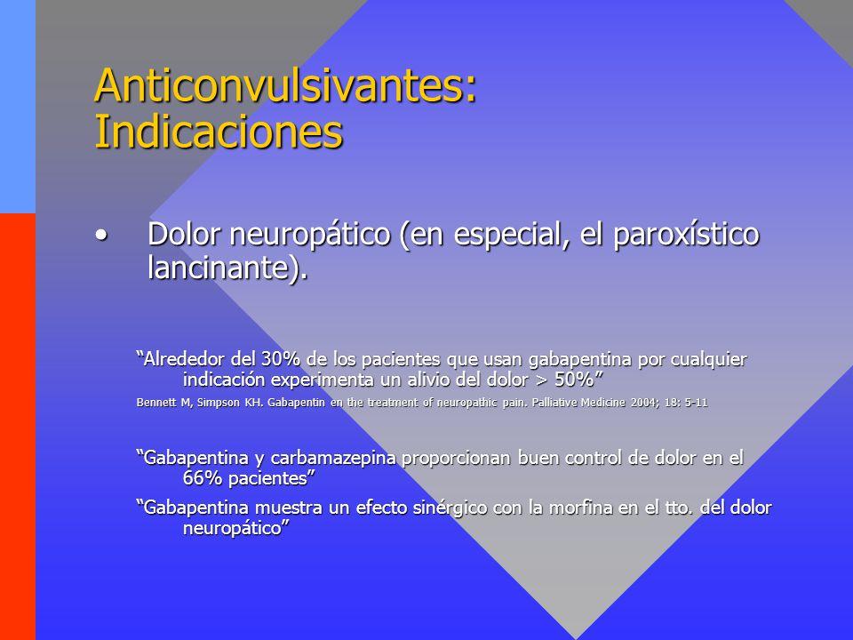 Anticonvulsivantes: Indicaciones